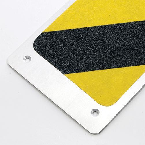 Alu Antirutschplatten schwarz-gelb Mineralkörnung