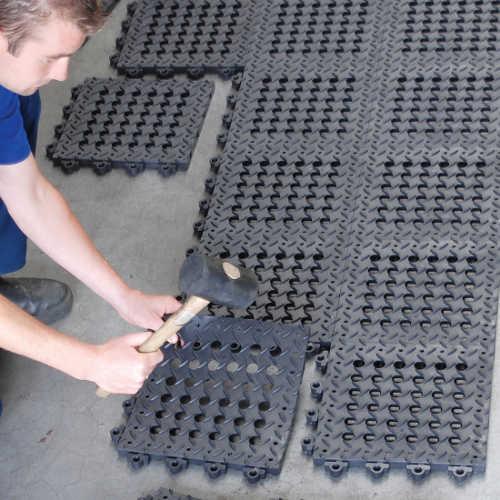 PVC-Steckfliesen Antirutsch