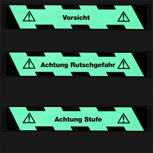 Antirutsch-Aluminiumplatten nachleuchtend mit Hinweis