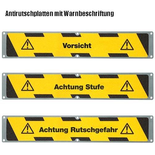 Antirutschplatten Warnmarkierung Beschriftung