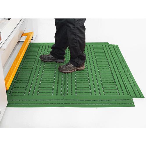 Industrie Fußbodenrost grün