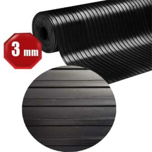 3mm breite Rippen - Gummiläufer