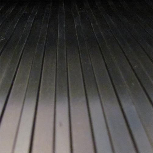 Gummiläufer Breitrillen 3 mm, Aufsicht