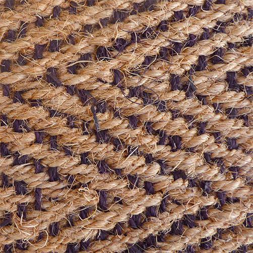 Kokosläufer Fischgrat mit dunklem Schuss