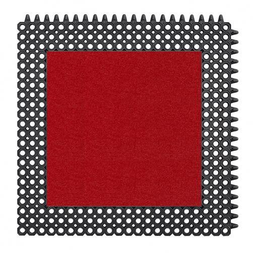 MasterFlex Gummimatte mit Schmutzfanginlay Swisslon Uni Rot
