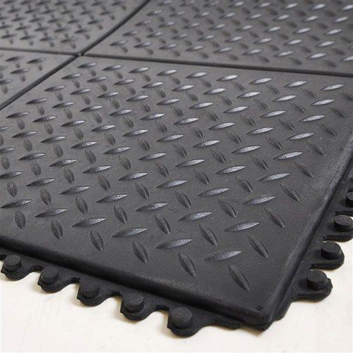 Bodenplatten Stecksystem Riffelblech-Struktur