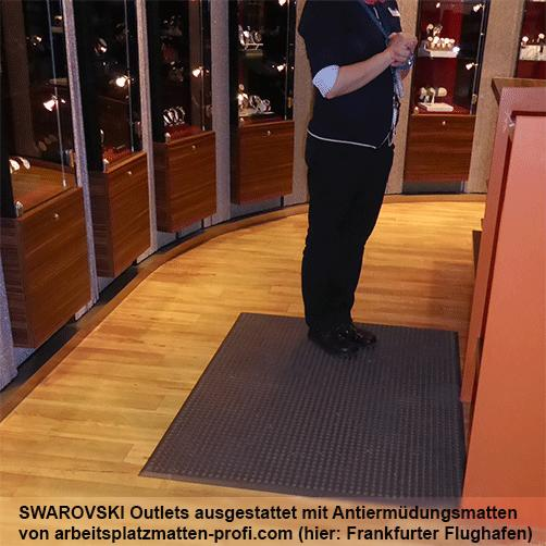 Antiermüdungsmatten bei Swarovski
