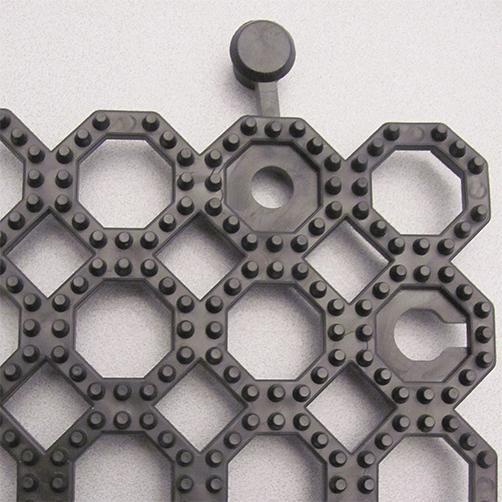 Steckfliesen Yoga Grid mit R12 Oberfläche