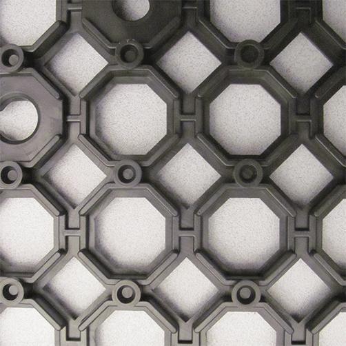 Steckfliesen Yoga Grid mit R12, Unterseite