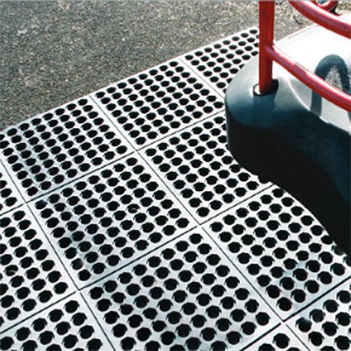 Fallschutzgummimatte Fatique-Step