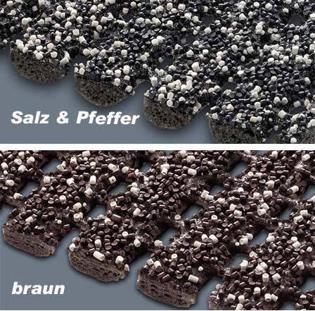Detail Sicherheitsmatte braun - salz&pfeffer