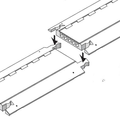 Kabelbrücken-Verbindung mit Knochenverbinder